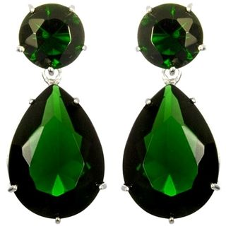 Angelina S Silver Red Carpet Inspired Emerald Green Earrings Cubic Zirconia Pinterest And Emeralds