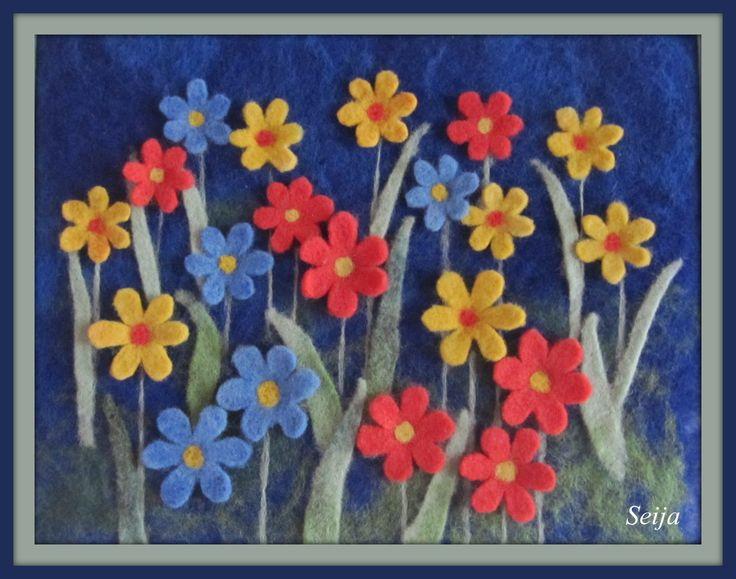 Neulahuovutetut kukat
