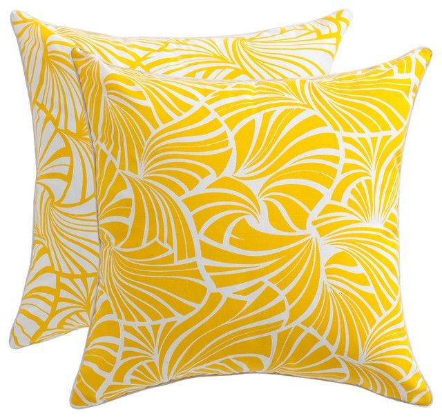 Florence Broadhurst Fans Yellow Cushion Cover | Indoor/Outdoor | The Block Shop......Fab Outdoor Fabrics.... $50... WillKarlie