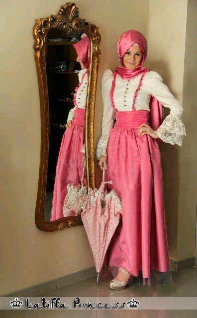 Maxi dress hijab brokat
