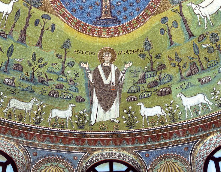 Basilica of Sant'Apollinare in Classe - Apsidal Mosaic with Saint Apollinaris [ #Ravenna #myRavenna]