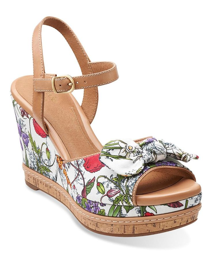 Clarks White Amelia Joyce Wedge More Clarks And Wedges Ideas