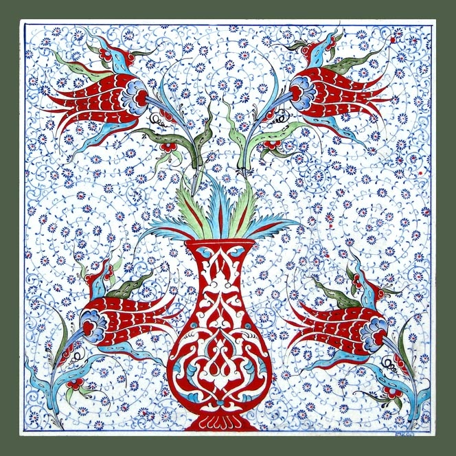 Ottoman Iznik flowers
