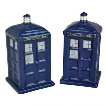 Doctor Who TARDIS Suola- & Pippuripurkit - AlphaGeek 17 e
