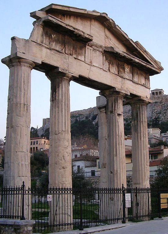 Gate of Athena Archegetis - Roman Forum of Athens, Greece