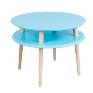 Konferenční stolek UFO Ø 57 cm, modrý