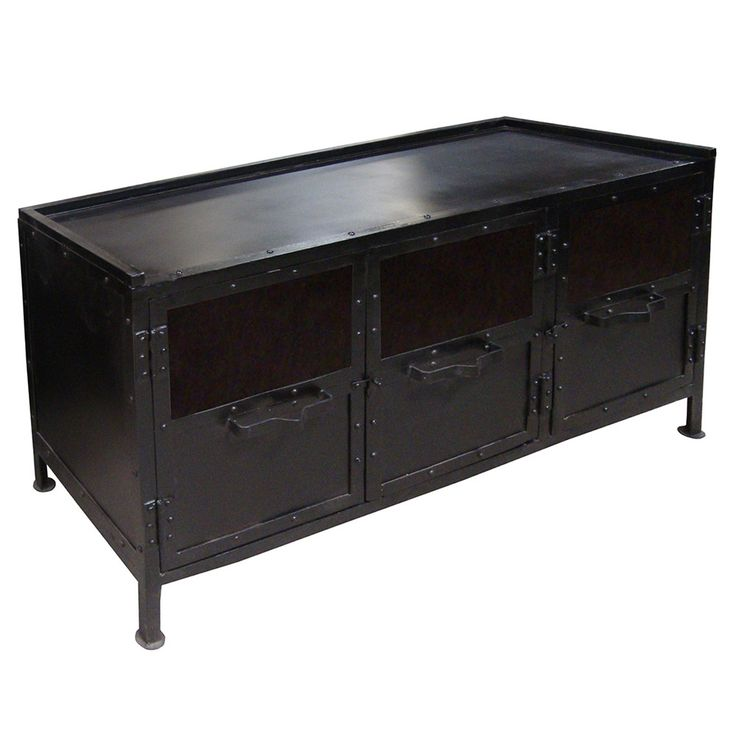 Rachel Industrial Media Cabinet, Carbon Wash