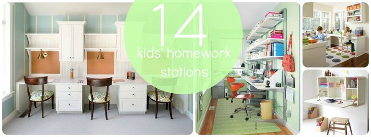 Homework Stations for kids! Some great ideas.  - great for homeschooling!