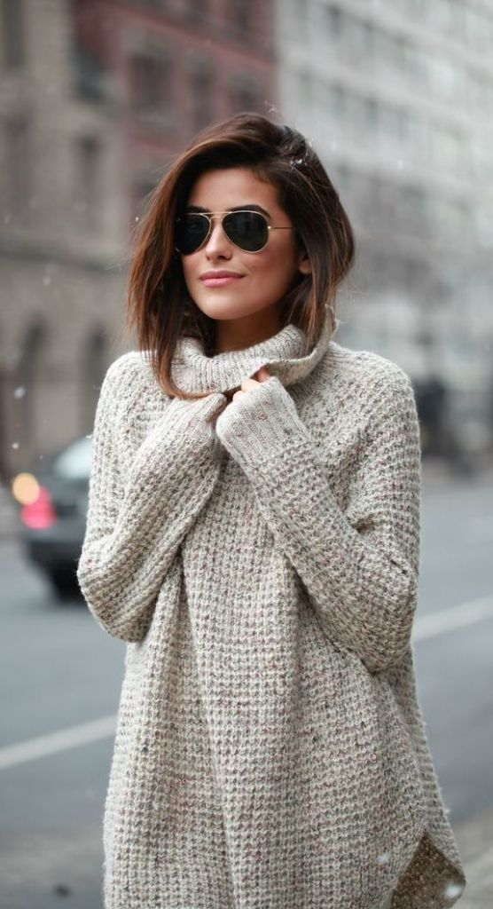 #street #style fall / knit Winter New york outfits looks fashion trends.