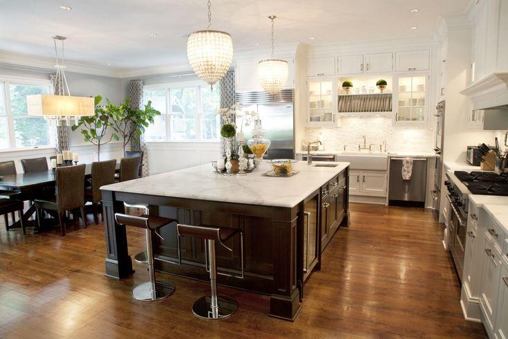 Large open kitchen layout | Custom Kitchens | Pinterest | Open ...