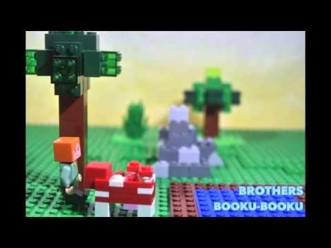 """마인크래프트 레고 패러디 2 minecraft LEGO stop-motion animation """" she loves the mooshroom"""" - YouTube"""