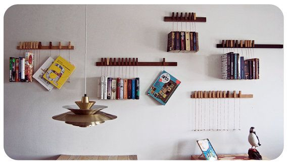 Custom made wooden book/magazine rack in Mahogany. by OldAndCold