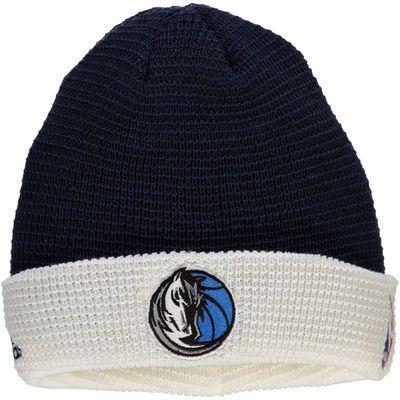 Men's adidas Navy Dallas Mavericks Authentic Team Cuffed Knit Hat