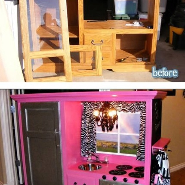 Tv Cabinet Made Into Play Kitchen: 16 Best Refurbished Entertainment Centers Images On