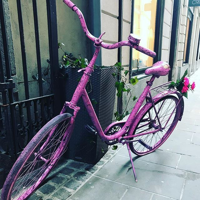 Can t wait for nice weather!! So far my bike sleeps in front of my boutique #evileve #evilevedesign #ljubljana #bikelife