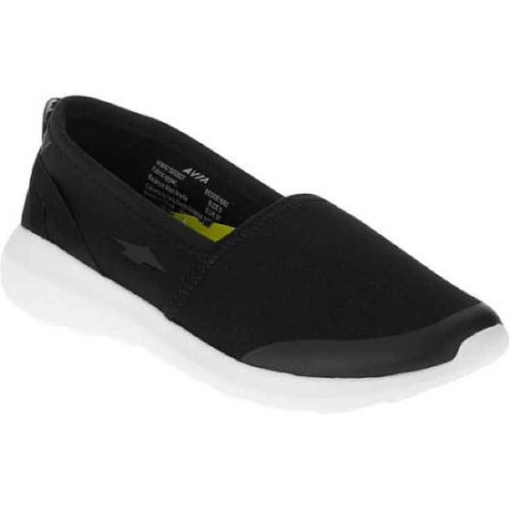 Avia Women's EscapeSlip-on Pilates Shoe, Black, 10