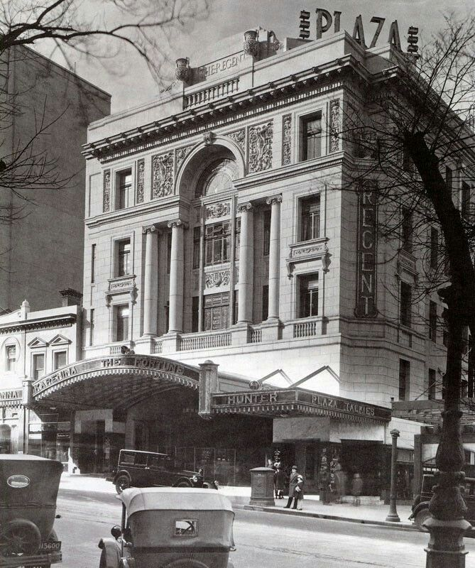 The Regent Theatre on Collins St,Melbourne,Victoria as originally built and the Plaza below.