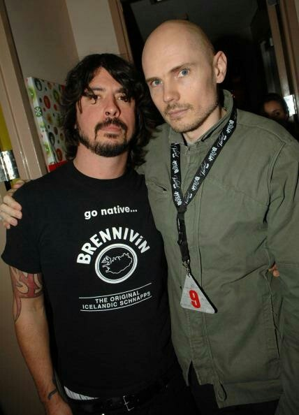Dave Grohl & Billy Corgan. Lead singer for the Foo Fighters and lead singer for The Smashing Pumpkins.