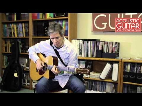 Fingerstyle guitarist Pete Huttlinger performs McGuires Landing at the Acoustic Guitar office on March 16th, 2012.