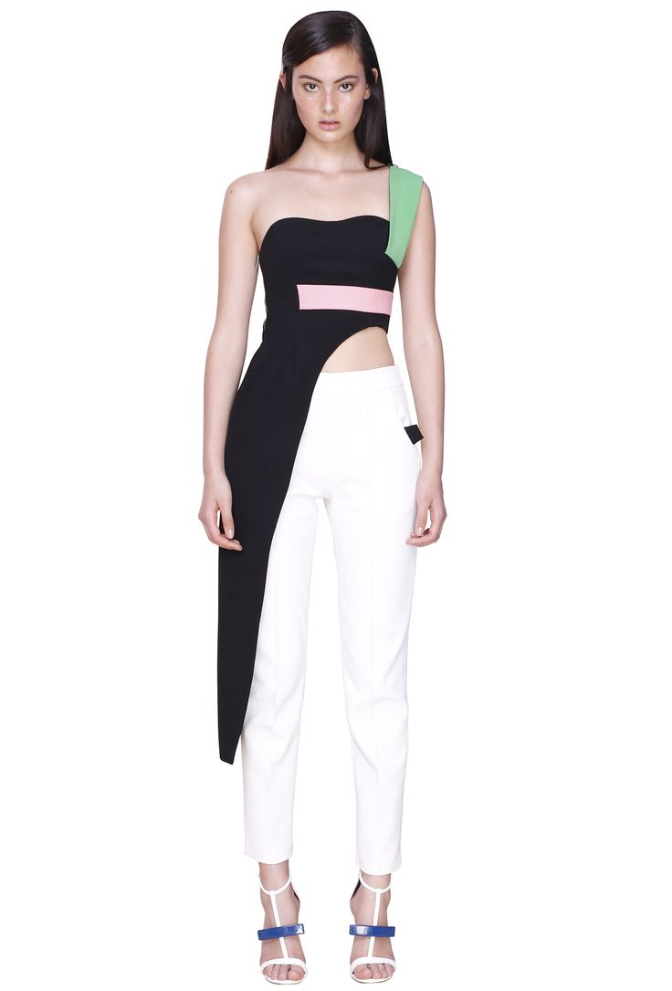 LONG LINE BUSTIER & NARROW LINE PANT #byjohnny #abstrACTION #SPRING2015 #AUSTRALIANFASHION