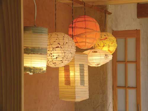 7 best images about paper lamp on pinterest ombre paper - Paper lantern paint color ...
