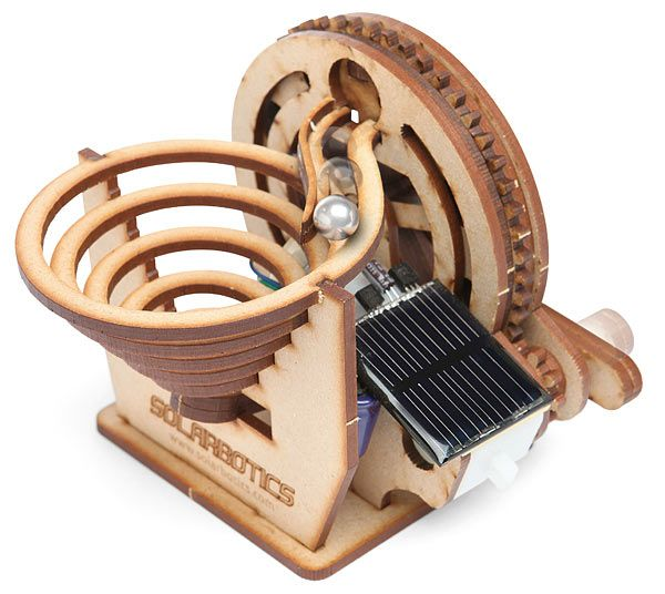 Perpetual motion machines are cool, even if they don't run forever. This Solarbotics Perpetual Motion Marble Kit will be fun to see in action. This solar powered machine moves marbles with solar power and it won't stop unless it gets dark.    You put it together then watch it do it