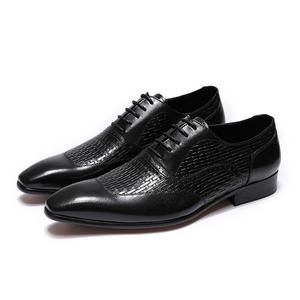 FELIX CHU Luxury Italian Genuine Cow Leather Men Blue Black Wedding Oxford  Shoes Lace-Up 3e7e225d9595