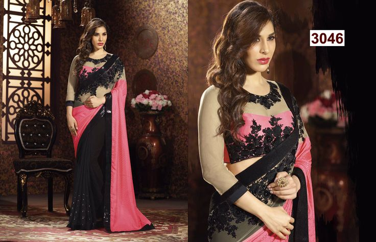 Black Heavy Saree : http://gunjfashion.com/ Watsapp Now : 90998 23943