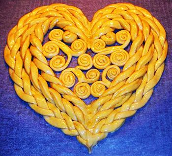 How to Make Heart Shaped Twist Bread | www.FabArtDIY.com LIKE Us on Facebook == https://www.facebook.com/FabArtDIY