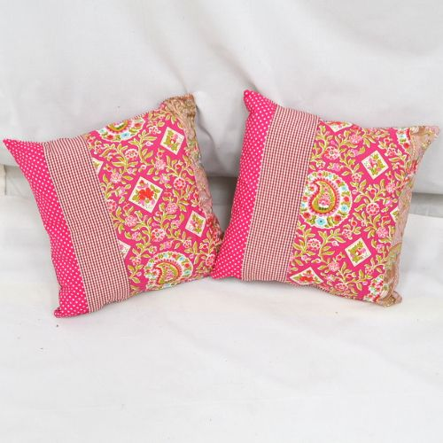Hot Pink / Bright Pink Chintzy Cushions.