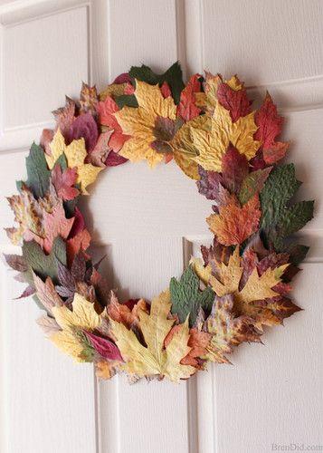 Мастер класс - осенний венок из листьев   Лавка творческих идей