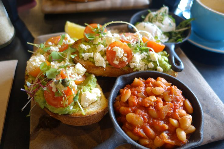 Smashed avocado with a side of Baked Beans, this is perfect for breakfast or a late lunch at blue-door
