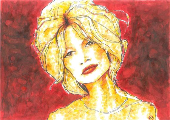 Brigitte Bardot by diopap on Etsy, €150.00