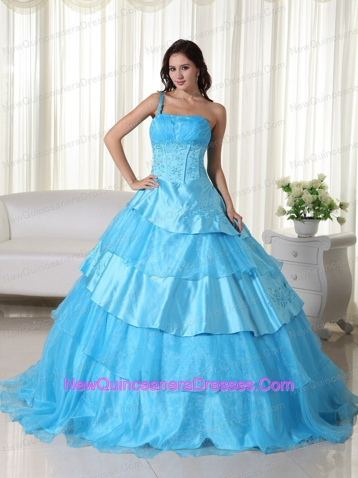 2013 beaded one shoulder sweet sixteen dresses