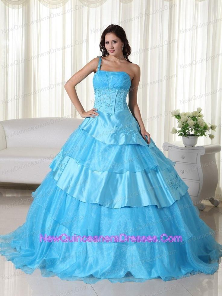 2013 beaded one shoulder sweet sixteen dresses