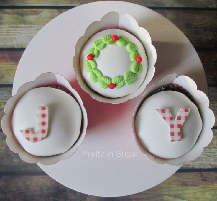 Joy cupcakes | Merry Christmas!