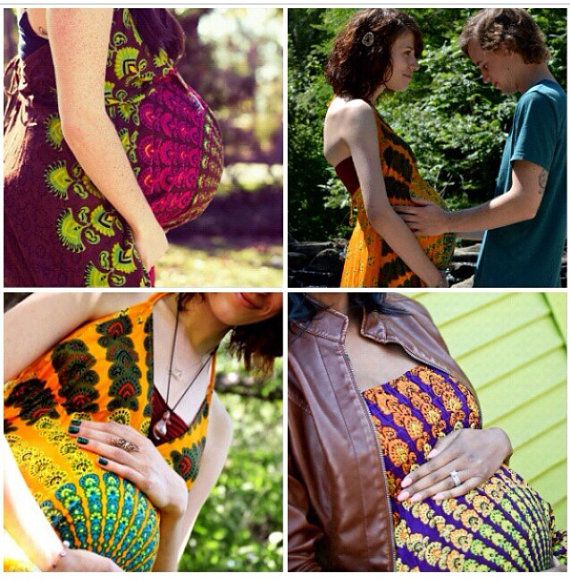 Handmade Hippie Maternity Dress Maternity Mandala by Cloud9Jewels, $42.00