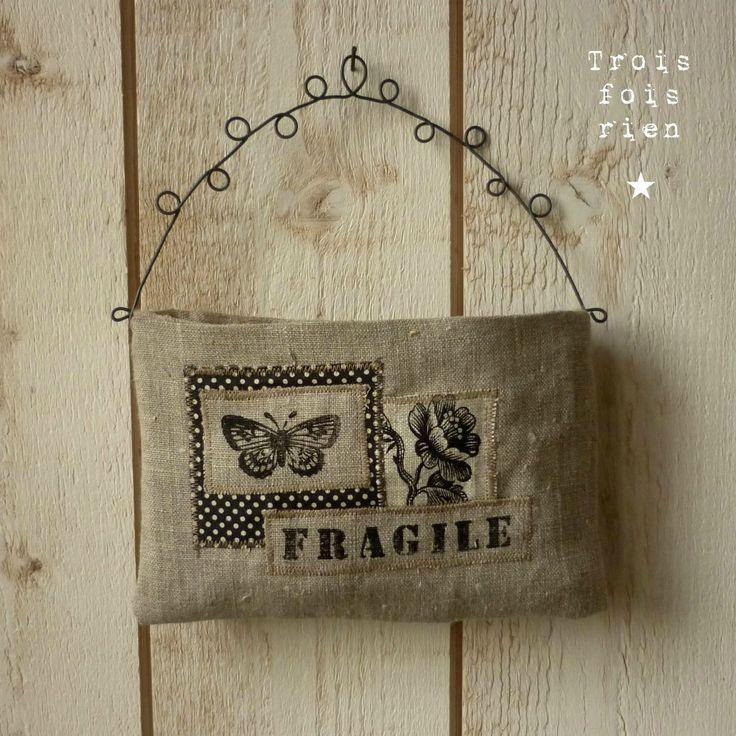 477 melhores imagens de mini podusie i woreczki no pinterest ideias de costura almofadas - Vide poche mural tissu ...