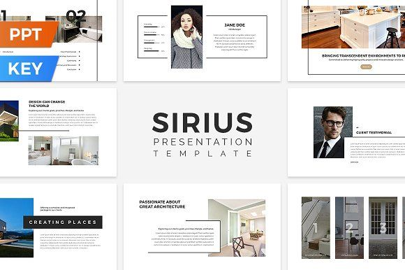 Sirius Presentation Template by SlideStation on @creativemarket