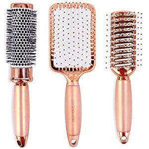 Lily England Rose Gold Hair Brush Set - Luxury Professional Hairbrush Gift Set for All Hair Types