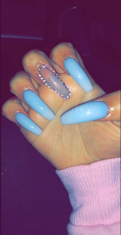 Bluenails Blue Nails Acrylic Acrylicnails Prettynails