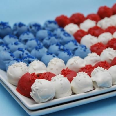 Cake Truffle Flag Dessert  {Flag Cake Recipes}: Cakes Truffles, Cakes Pop Display, Fourth Of July, July Cakes, Blue Cakes, Cakes Pop Cakes, 4Th Of July, Oreo Truffles, Cakes Ball