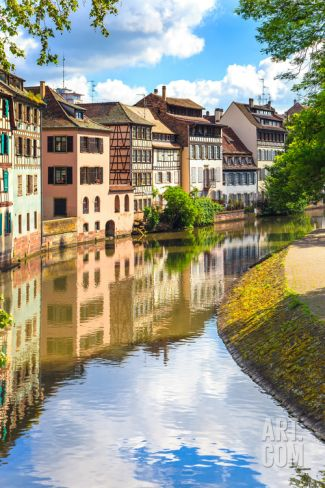 Strasbourg, Water Canal in Petite France Area, Unesco Site. Alsace. Photographic Print by stevanzz at Art.com