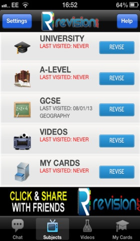 The Revision App - the Ultimate Revision Tool: for GCSE & A Level; over 1 million revision notes and flashcards. Save your cards in your own folder