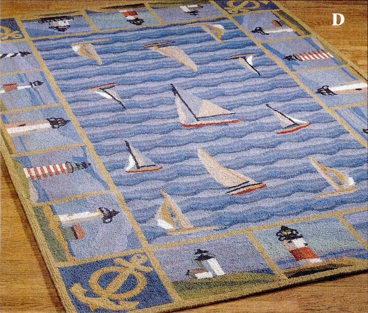 Lighthouses Rug, Hand-hooked In China, From The Touch Of