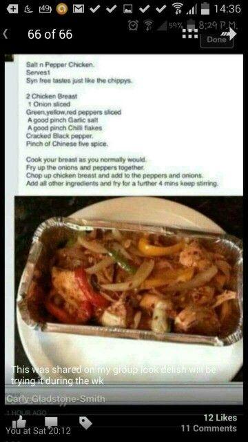 Slimming World - Salt and Pepper Chicken