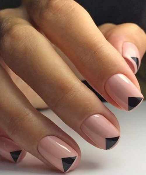 Best Black Triangle Nail Art Designs for Look Pretty