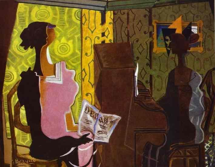 El Dúo (Le Duo), óleo sobre lienzo de Georges Braque (1882-1963, France)