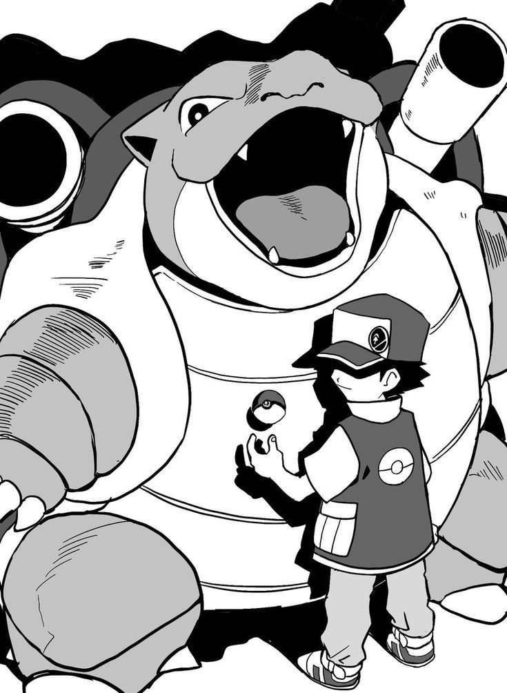 Pokemon Trainer Red Coloring Pages - Bowstomatch