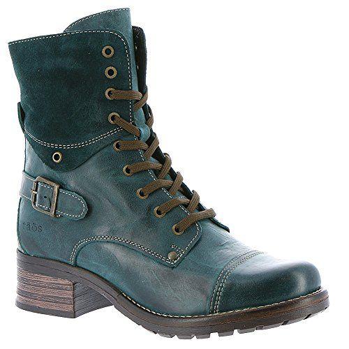 Taos Womens Crave Combat Boot Teal 38 Eu775 M Us You